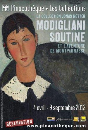 Affiche Modigliani Soutine Aventure de Montparnasse Pinacothèque Paris