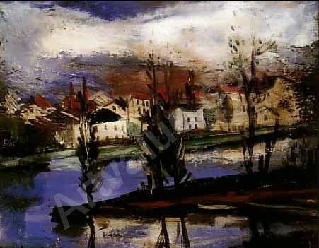 Paysage de rivière Vlaminck