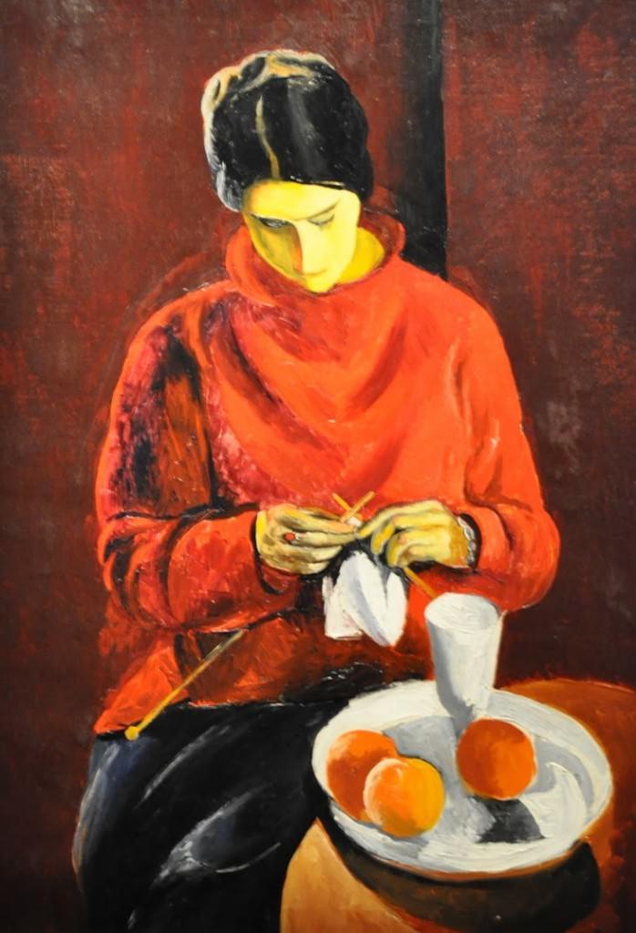 La femme au pull-over rouge Kisling