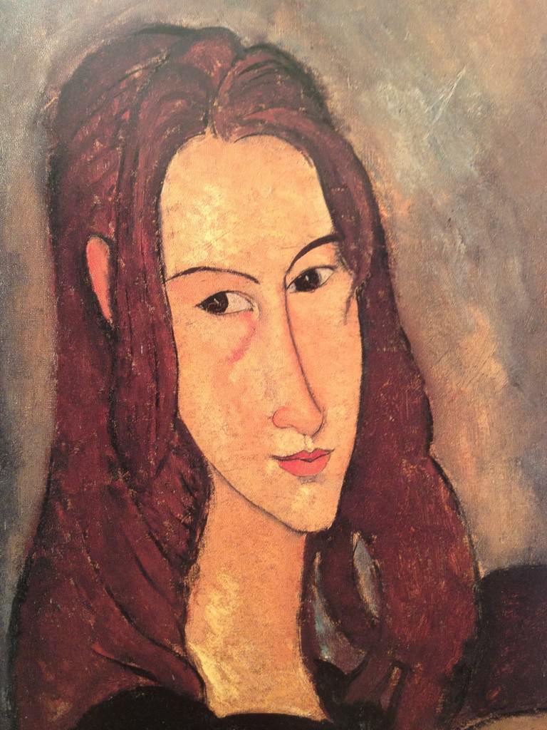 Portrait de la jeune fille rousse Jeanne Hébuterne Modigliani