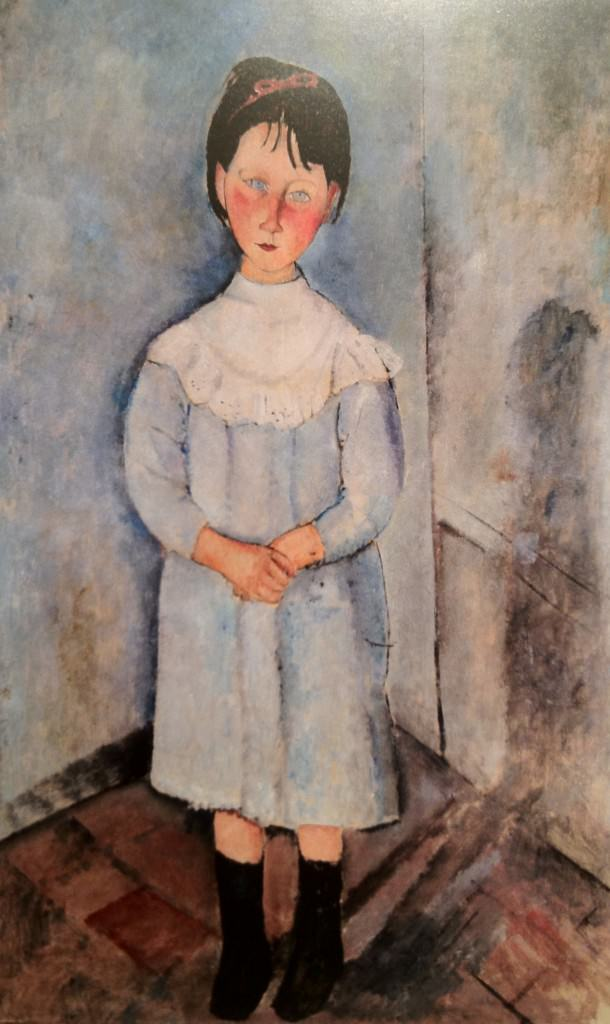 Fillette en bleu Modigliani
