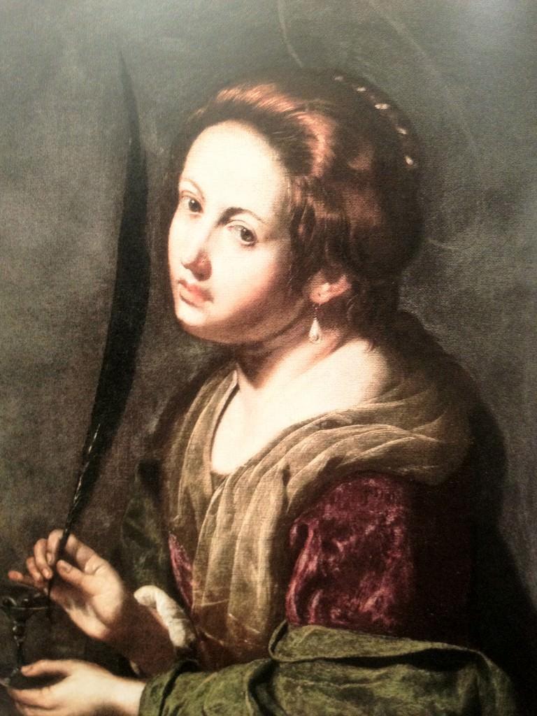 Sainte Lucie Artemisia Gentileschi
