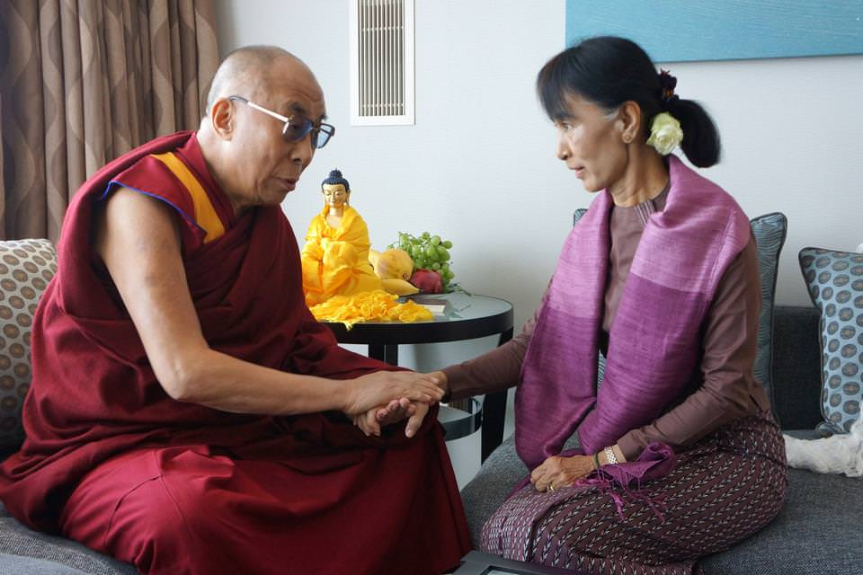Dalaï Lama et Aung San Suu Kyi