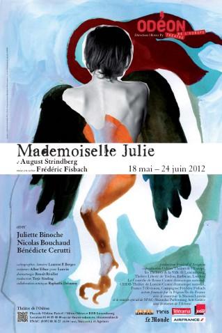 Mademoiselle Julie Théâtre de l'Odéon Paris