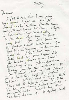Dernière lettre de Virginia Woolf avant son suicide