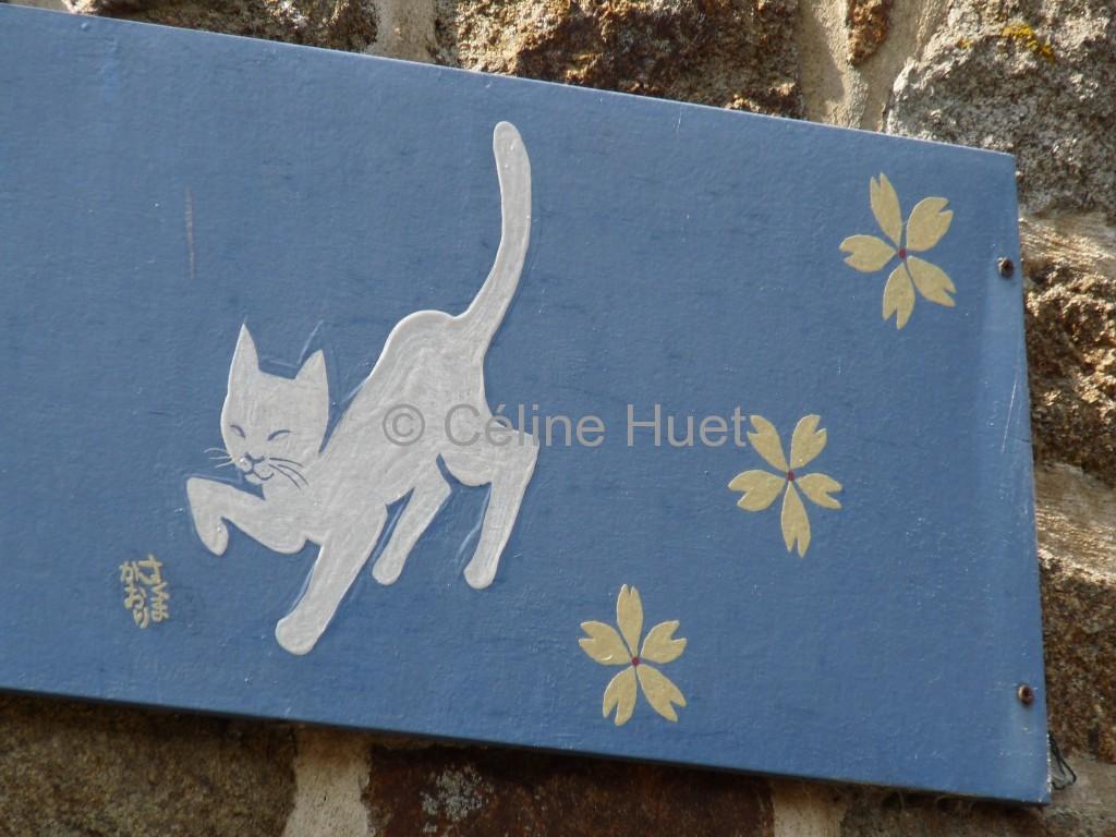 Enseigne chat Bécherel Bretagne