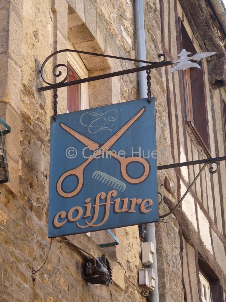 Enseigne coiffure Dinan Bretagne