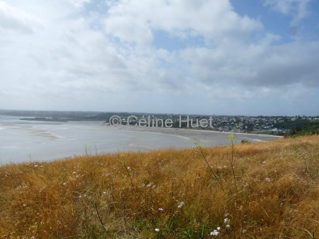 La Baie de Saint Brieuc vue de la Pointe du Roselier Bretagne