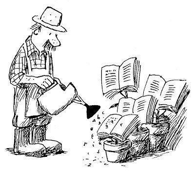 L'homme qui arrose ses livres