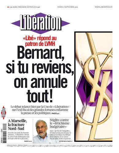 Une Libération du 11 septembre 2012 Bernard Arnault