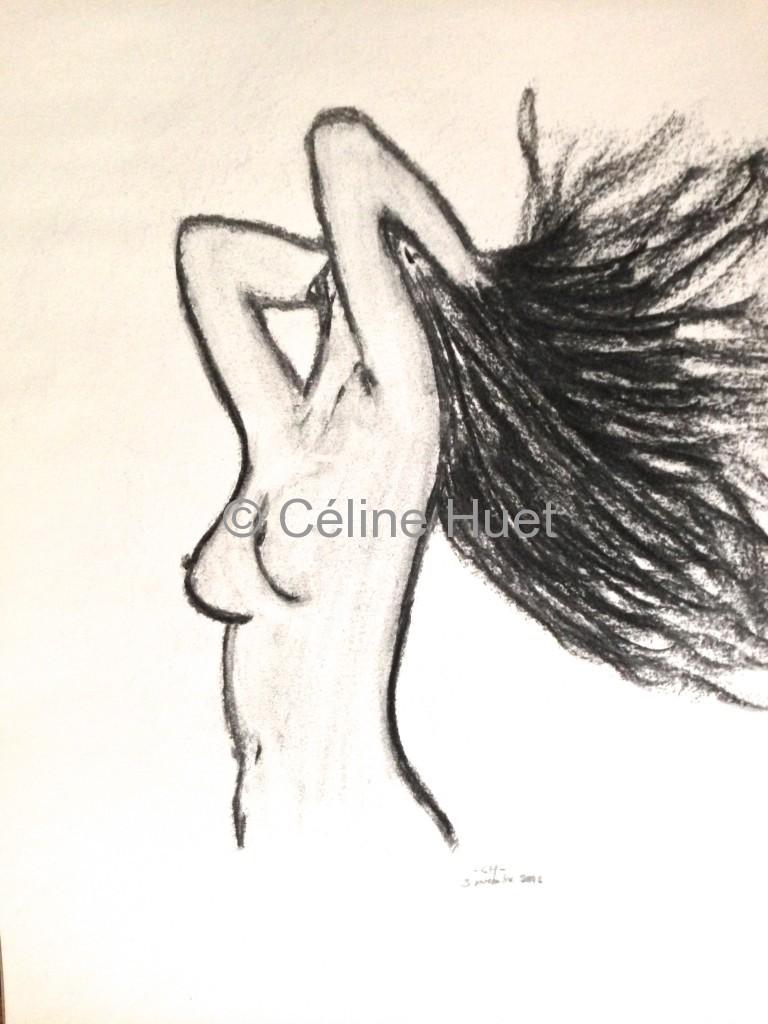 Dessin Hair style Collection particulière Céline HUET