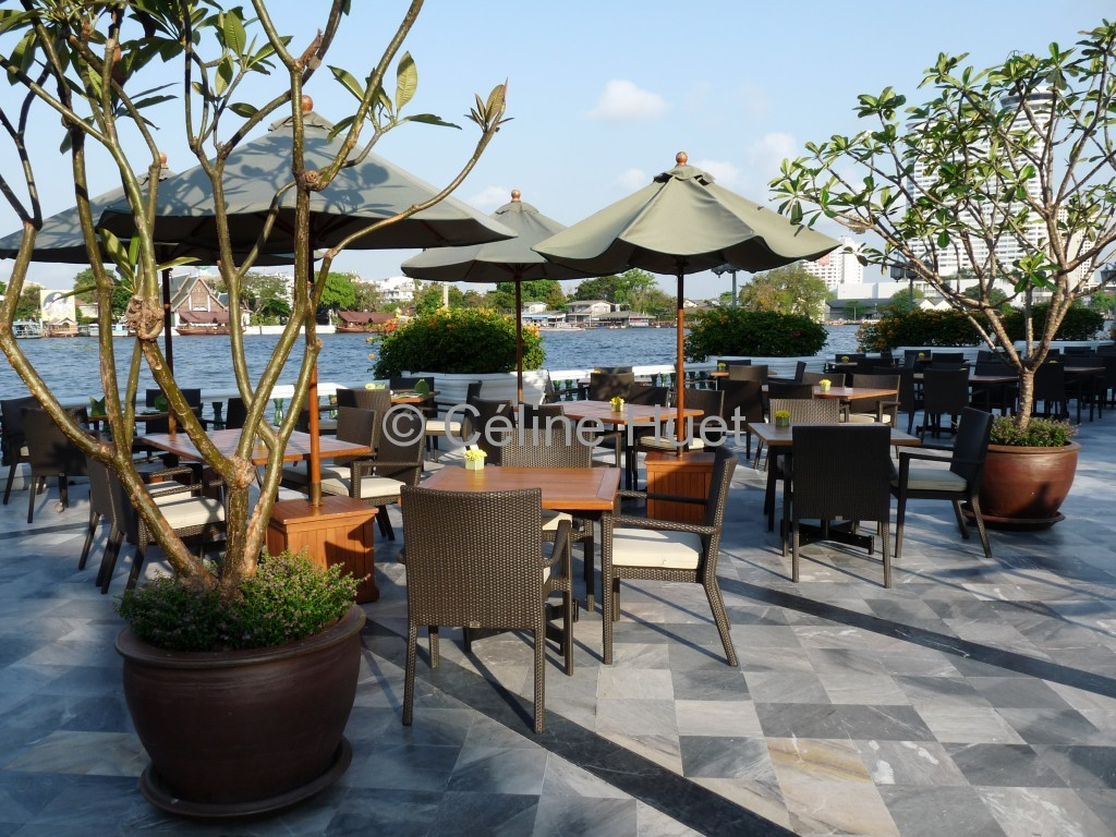 Terrasse Petit déjeuner Mandarin Oriental Bangkok Thaïlande