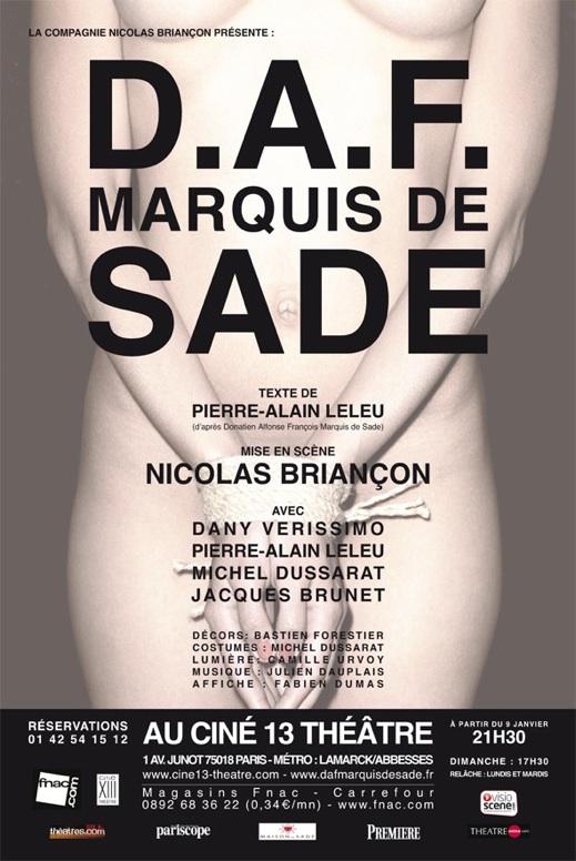 DAF Marquis de Sade Ciné 13 Théâtre