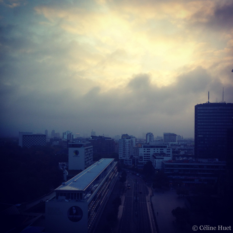 Lever du soleil depuis le Waldorf Astoria Berlin Allemagne