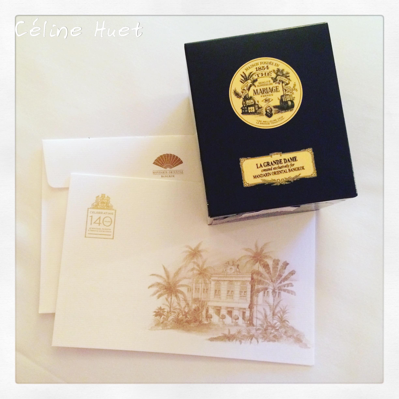 Thé La Grande Dame création exclusive Mariage Frères 140e anniversaire Mandarin Oriental Bangkok