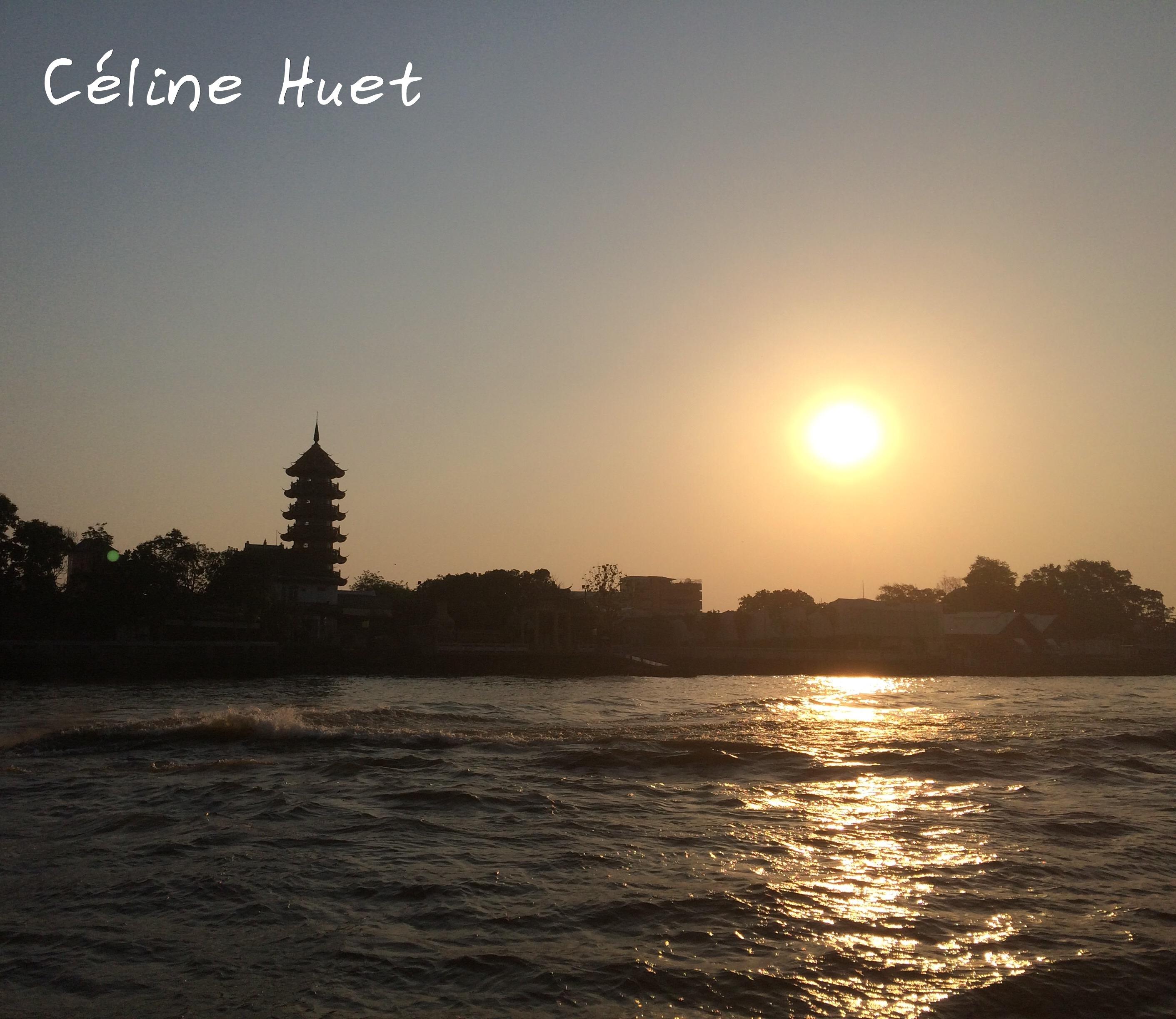 Sunset from Chao Praya Bangkok Thailand Asia