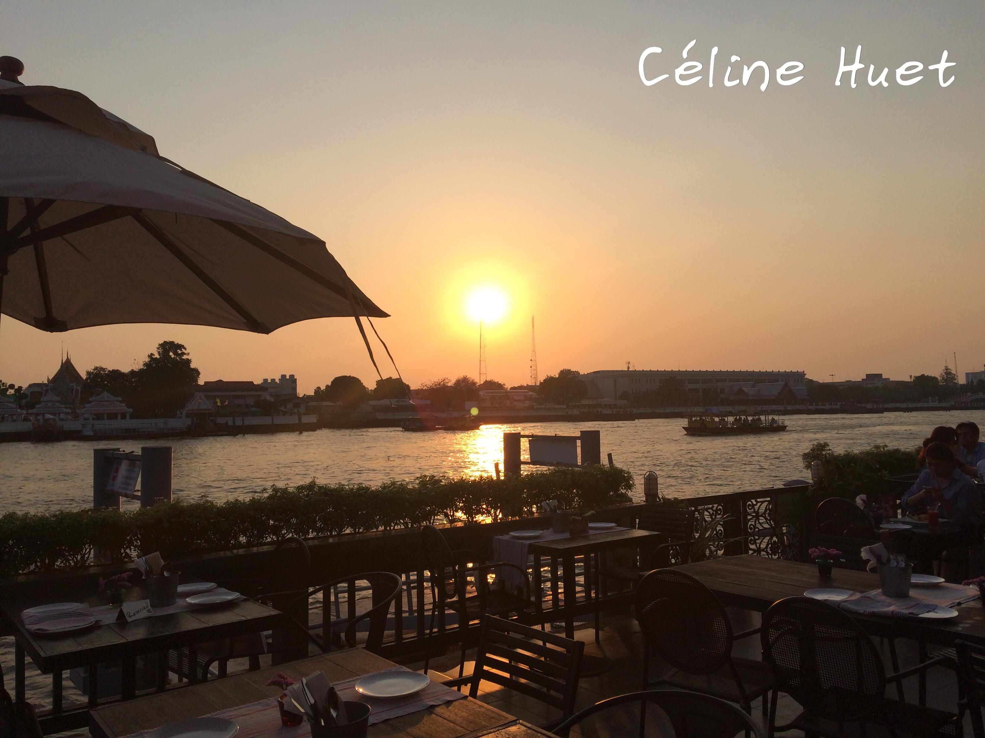 Sunset from Eat Sight Story Bangkok Thailand Asia