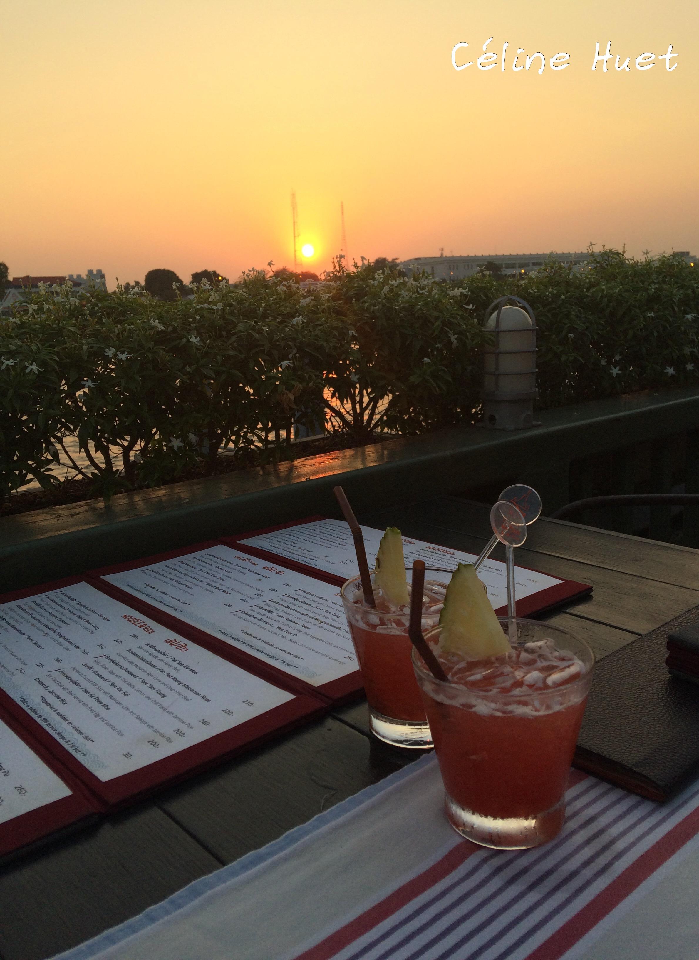 Sunset and Maï Taï from Eat Sight Story Bangkok Thailand Asia