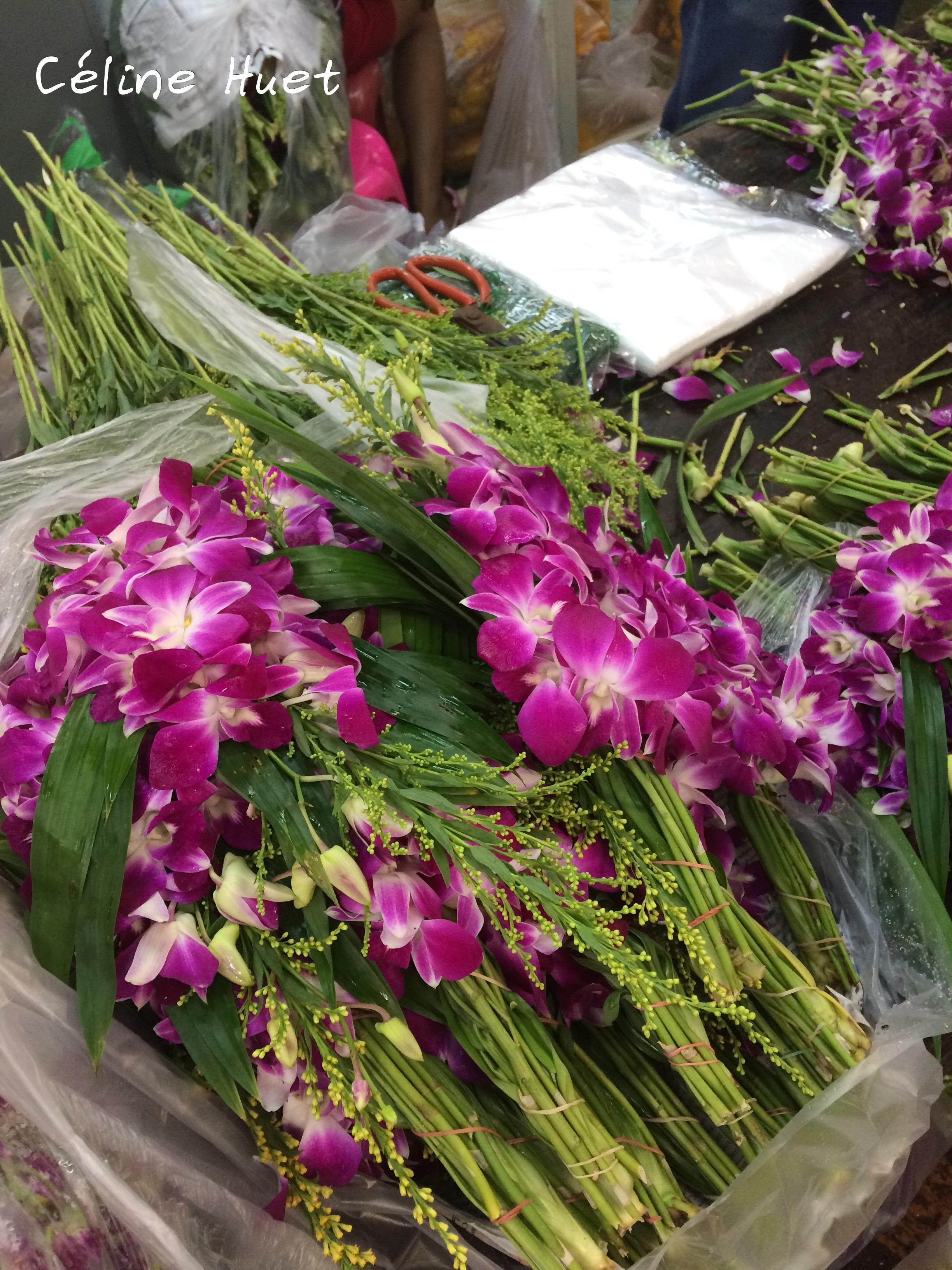 Flowers Market Bangkok Thailand Asia