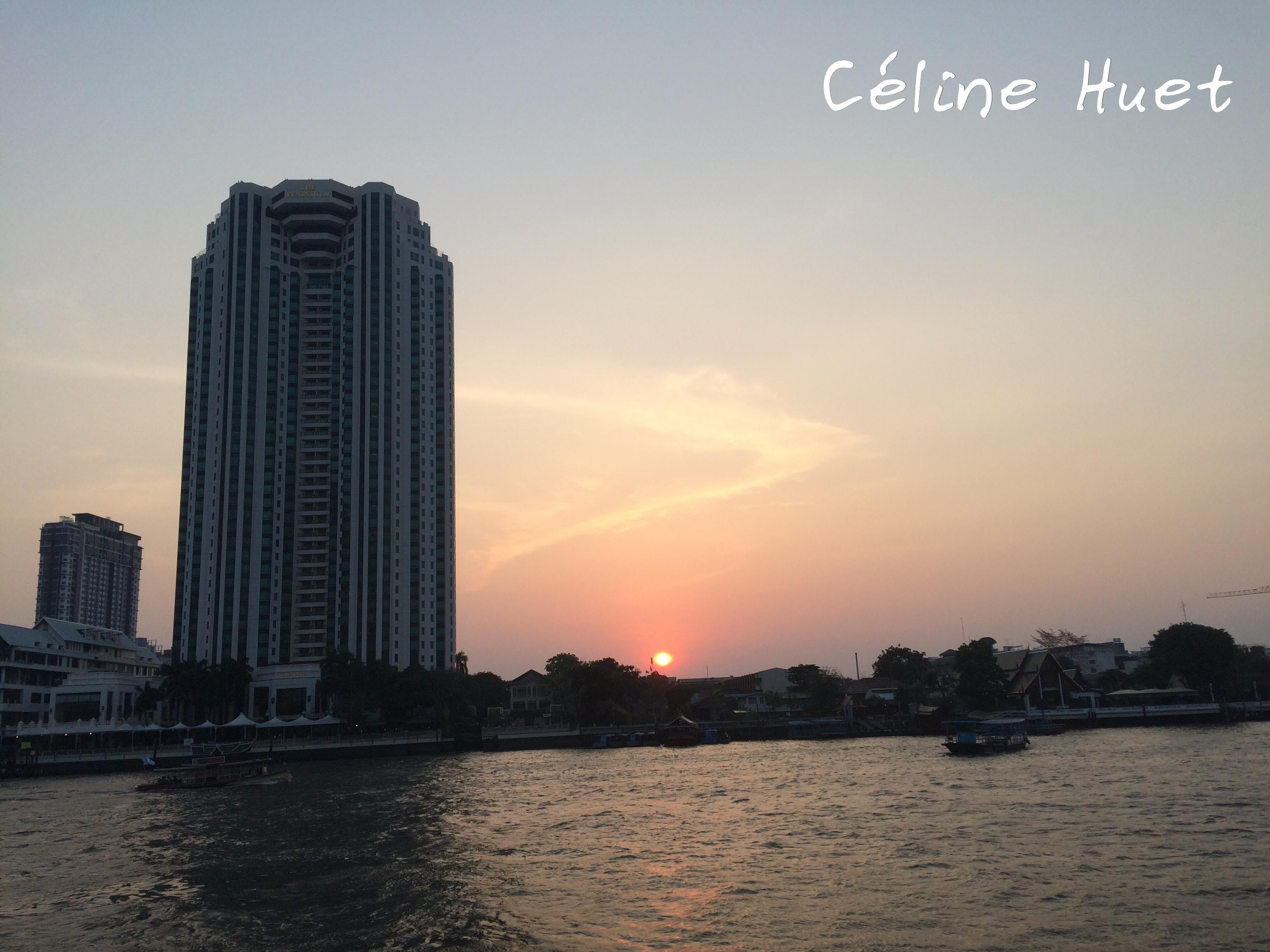 Coucher de soleil Bangkok Thaïlande Asie