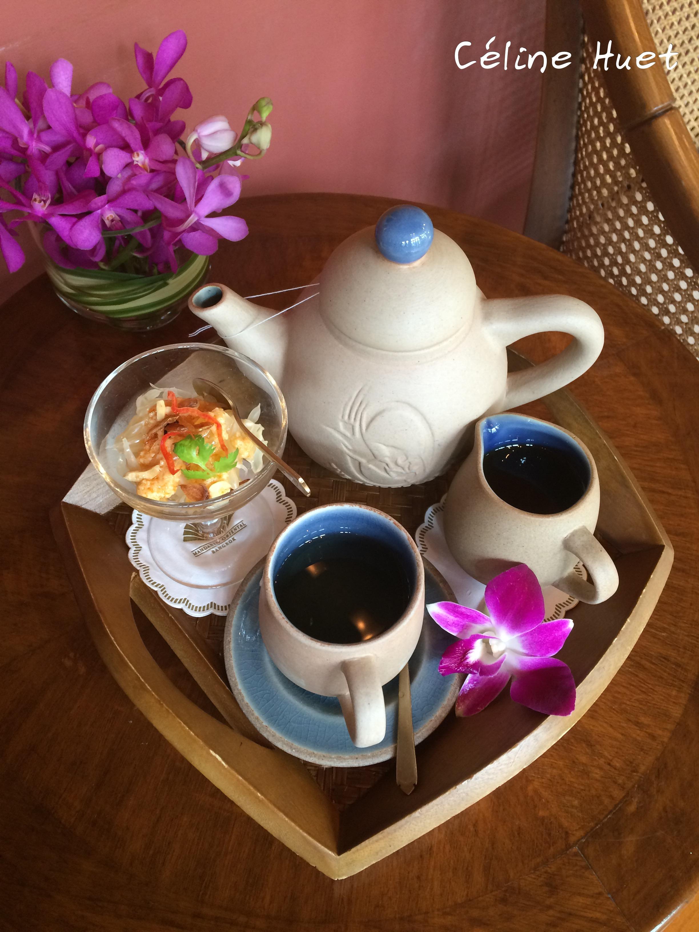 Lemongrass tea Spa Mandarin Oriental Bangkok Thailand Asia