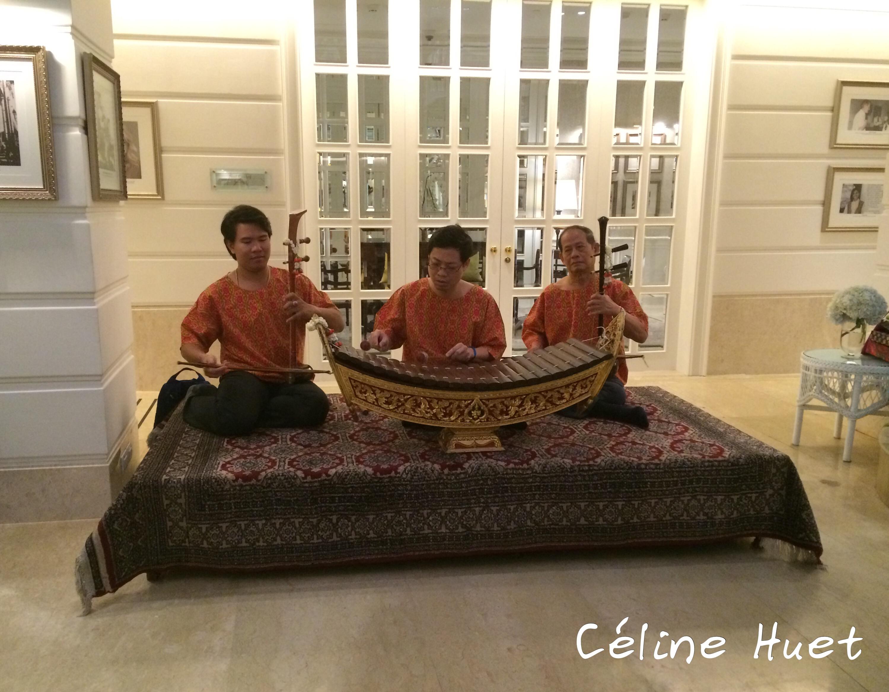 Musique traditionnelle Songkran Festival 2016 Mandarin Oriental Bangkok Thaïlande Asie