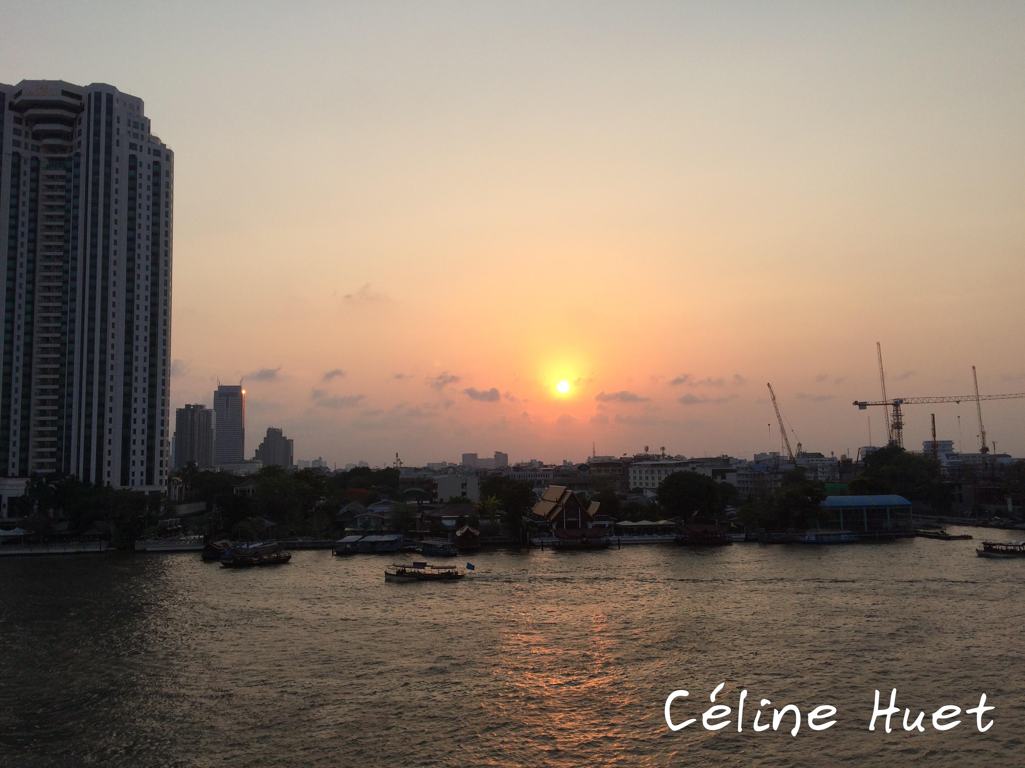 Coucher de soleil depuis le Mandarin Oriental Bangkok Thaïlande Asie