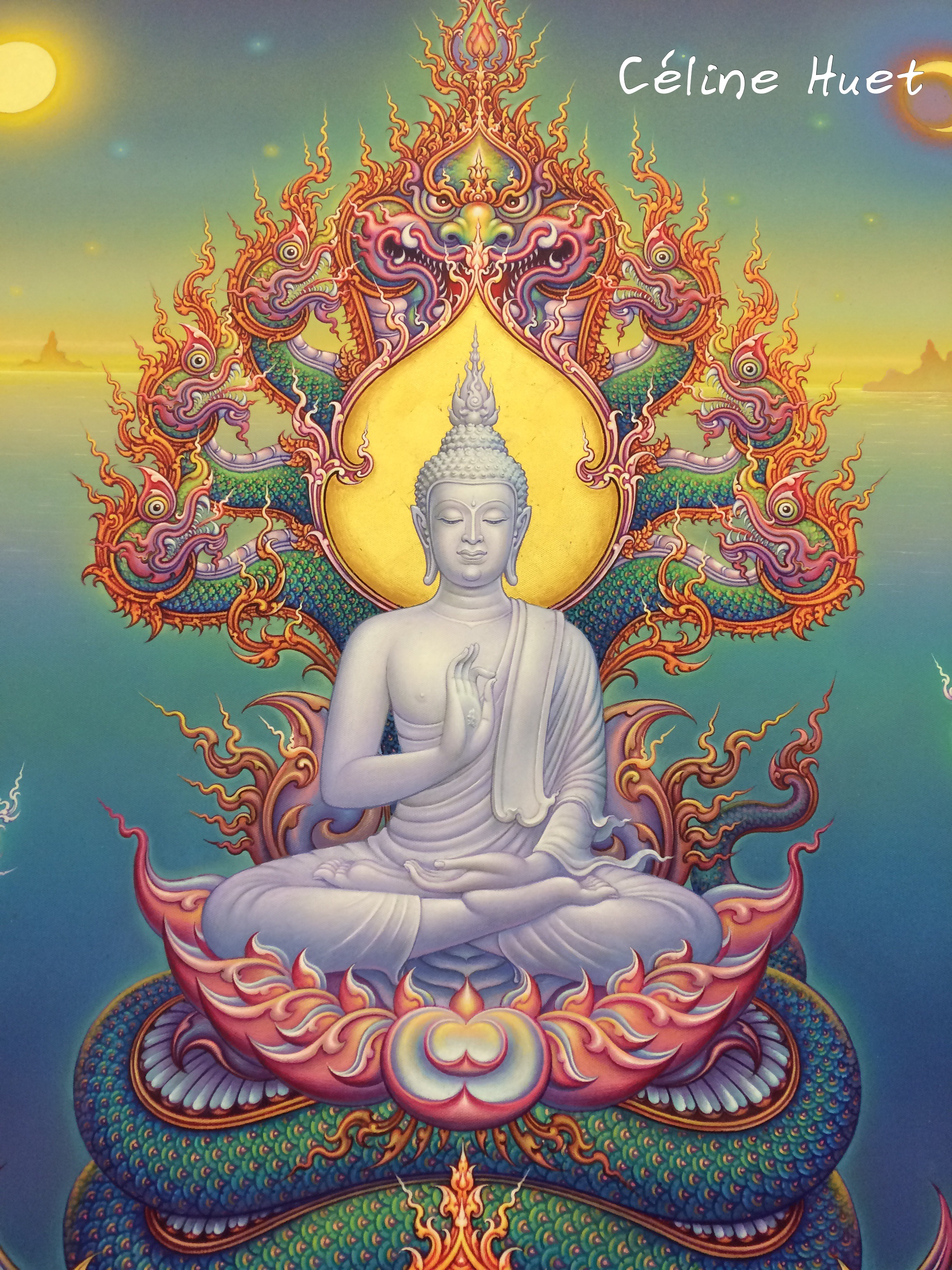 The blessing of Lord Buddha Chalermchai Kositipipat MOCA Bangkok Thaïlande Asie