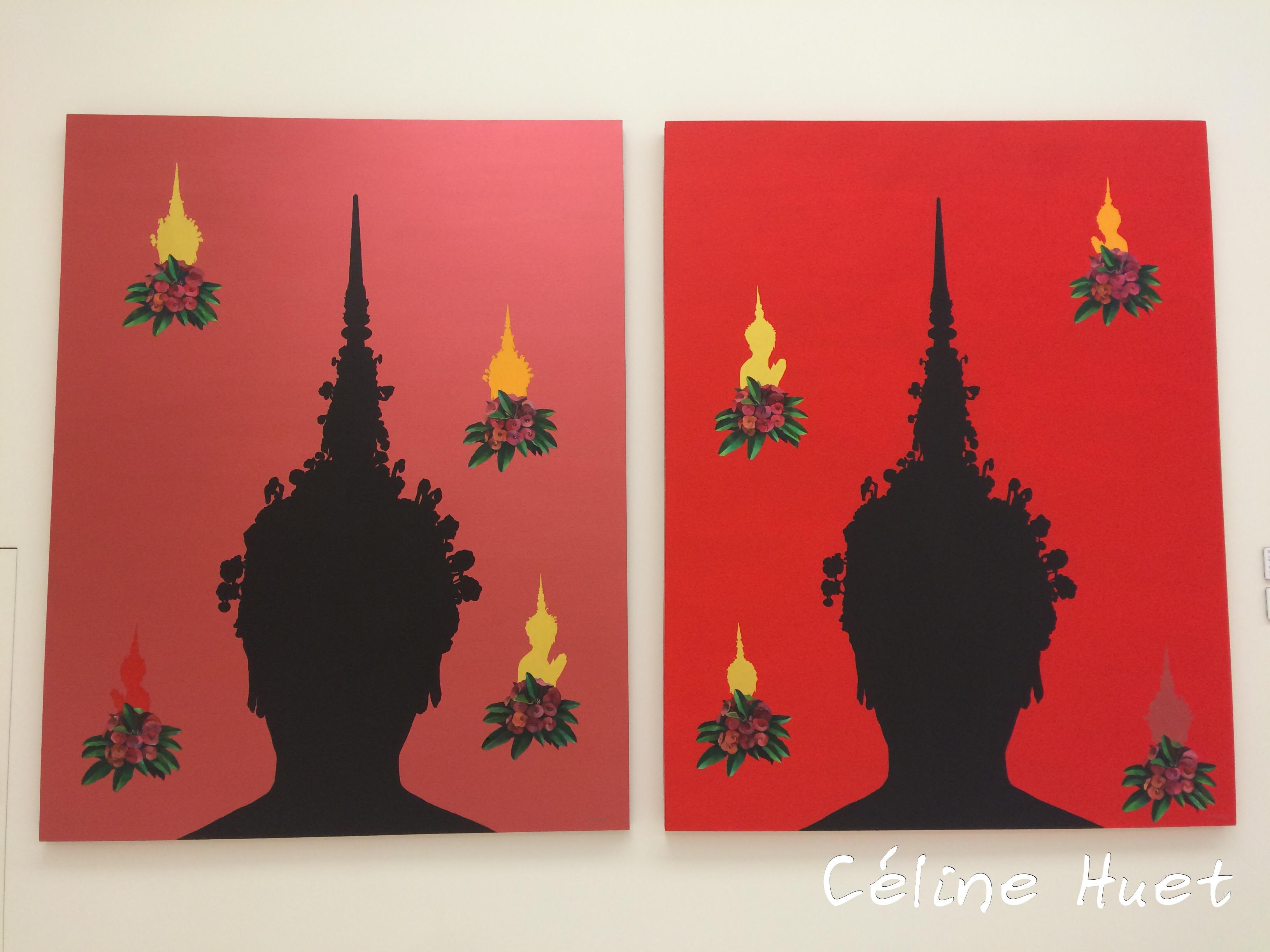 Angel and 8 Devas 1 et 2 Sittichai Pratchayaratikun MOCA Bangkok Thaïlande Asie