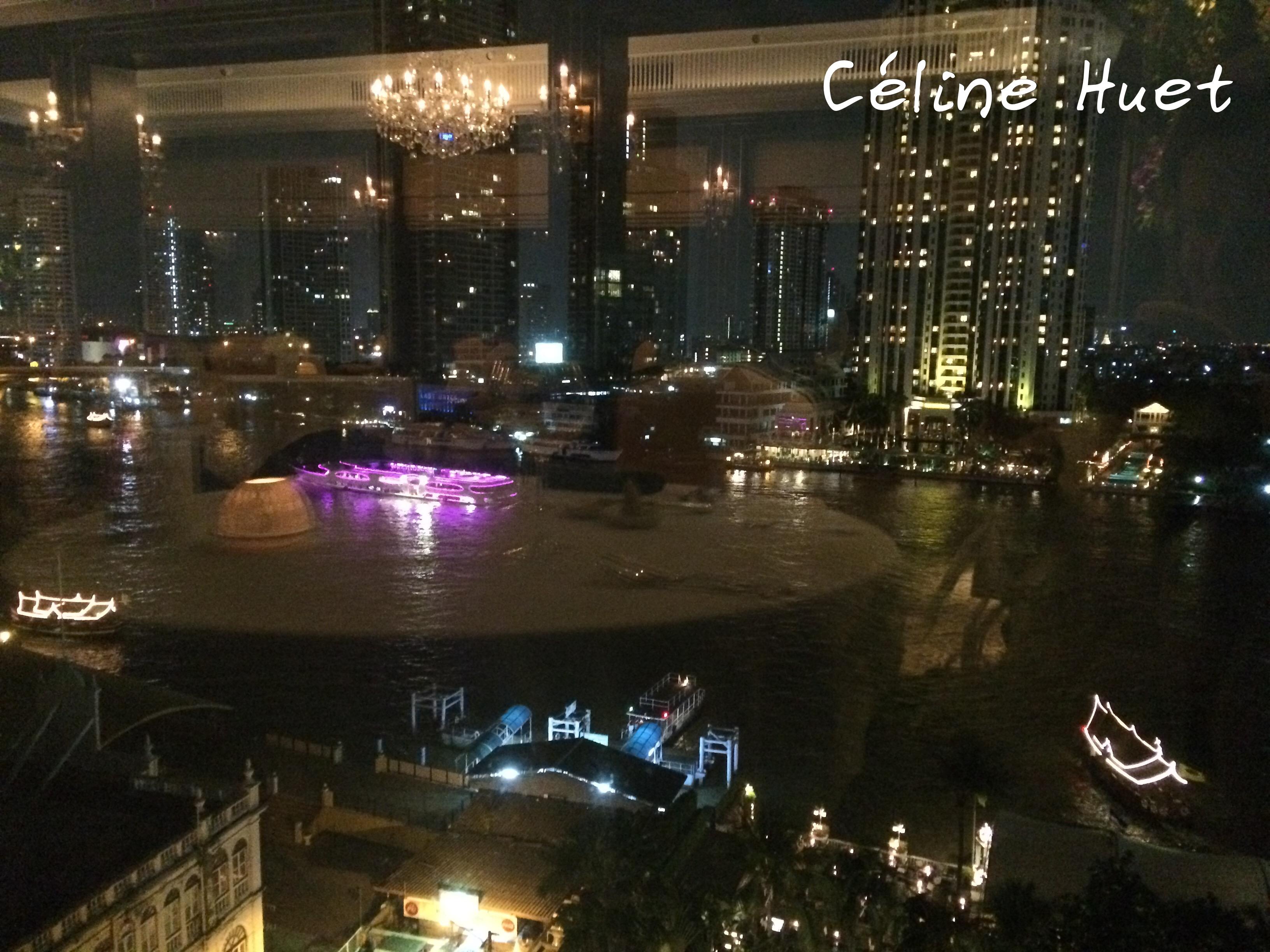 Vue panoramique de nuit depuis Le Normandie Mandarin Oriental Bangkok Thaïlande Asie
