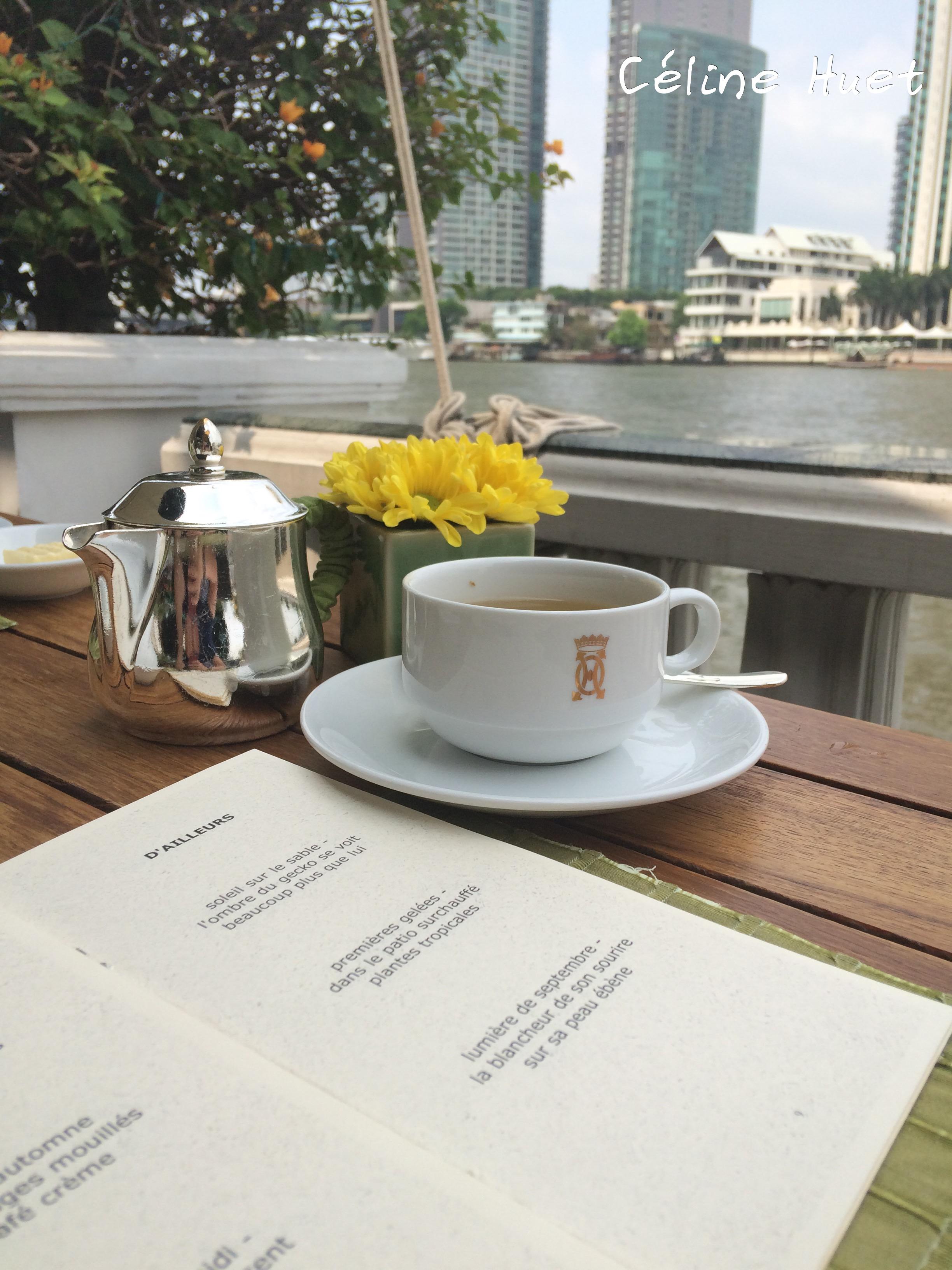 Lemongrass tea et Haïkus Rahmatou Sangotte Mandarin Oriental Bangkok Thaïlande Asie