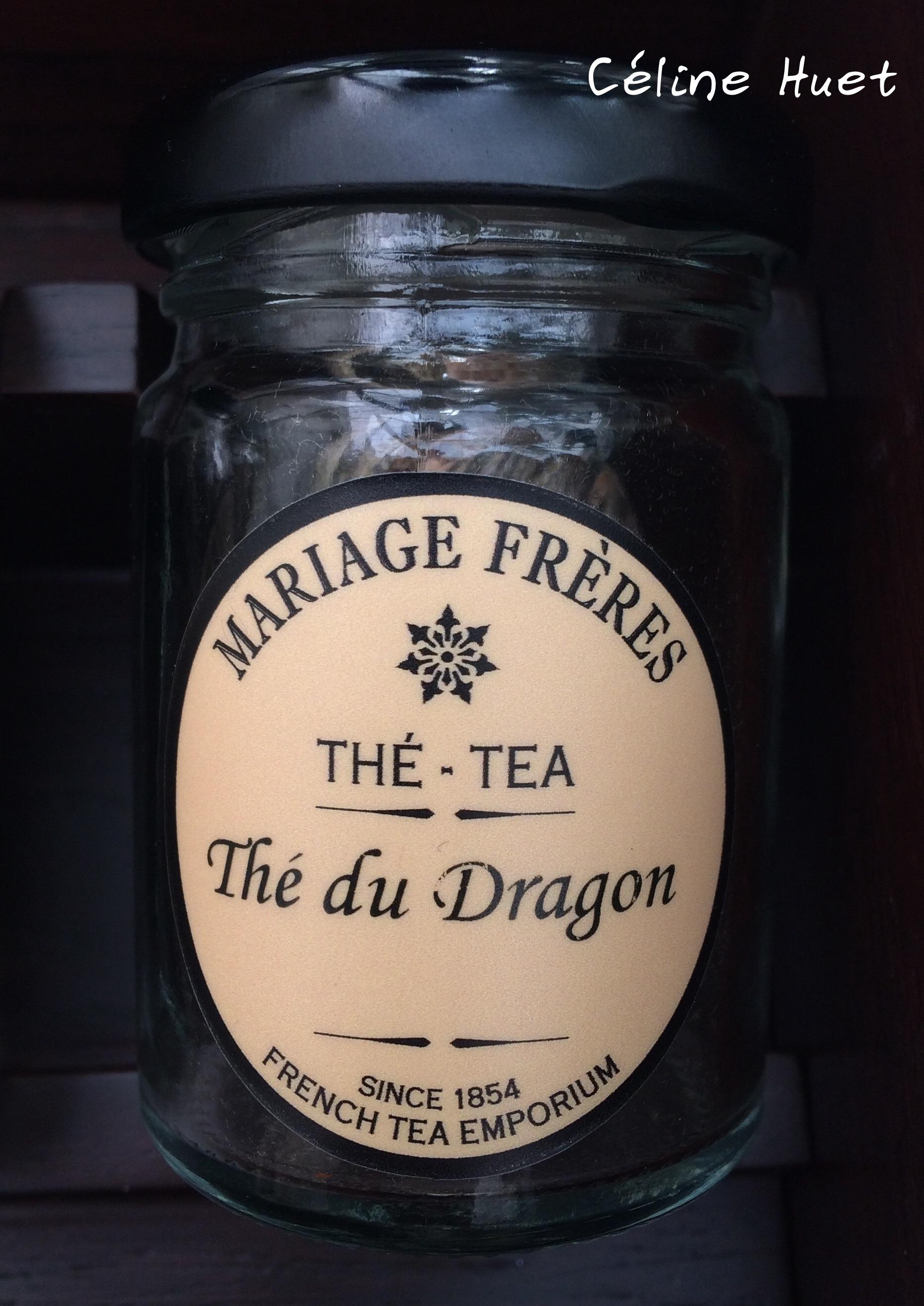 Thé du dragon Mariage Frères Mandarin Oriental Bangkok Thaïlande Asie