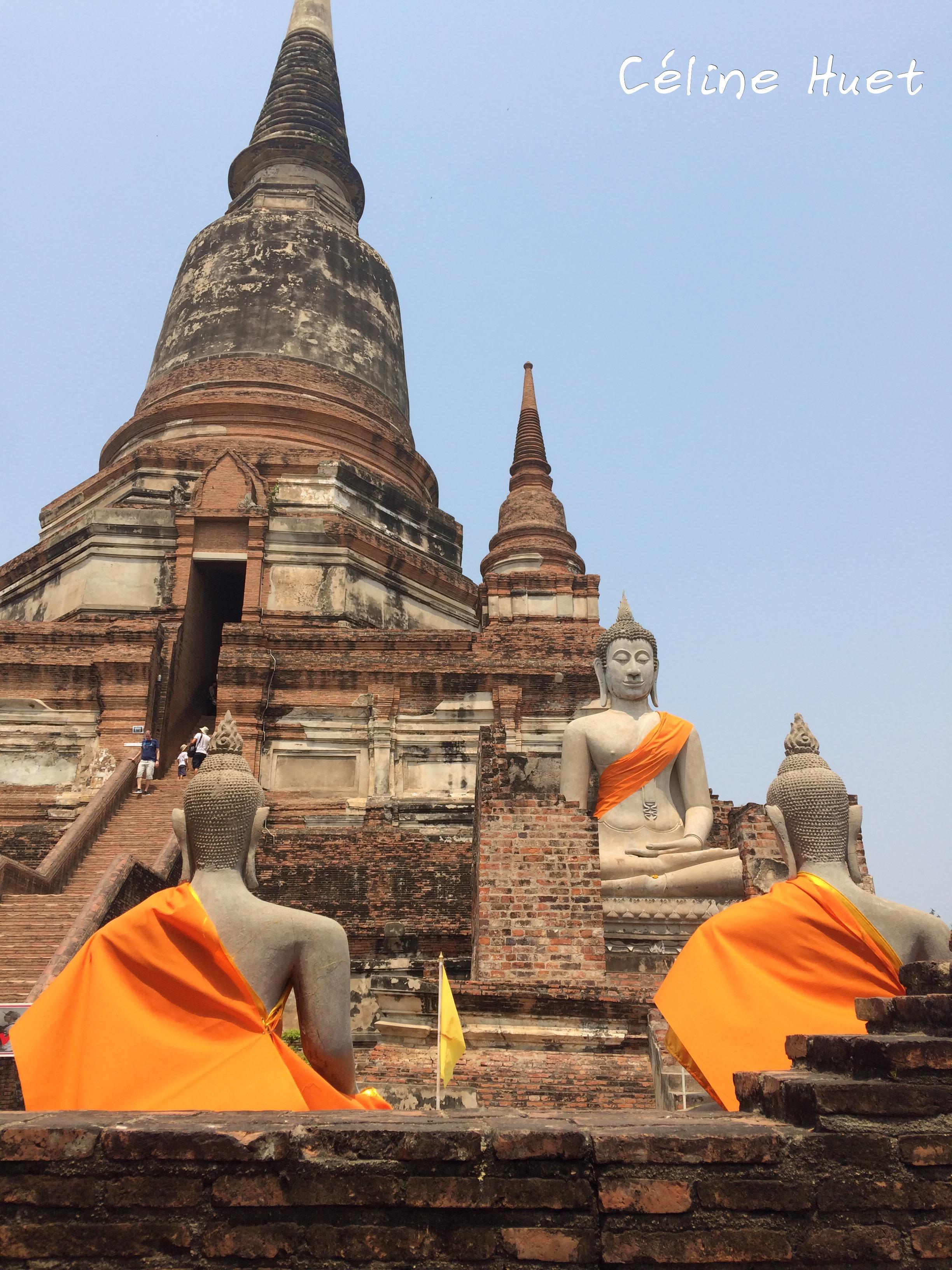 Wat Yai Chaya Mongkol Ayutthaya Thaïlande Asie