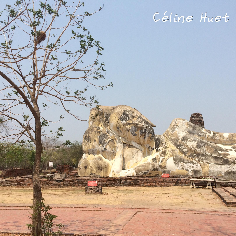 Wat Lokayasutharam Ayutthaya Thaïlande Asie