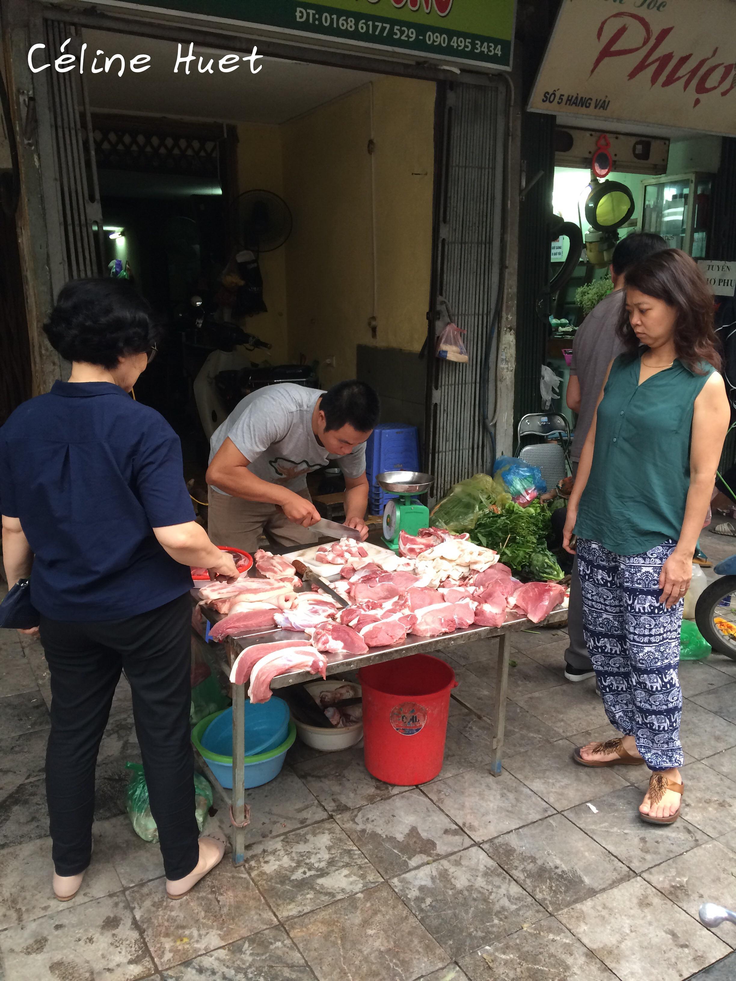Boucher dans la rue Hanoï Vietnam Asie