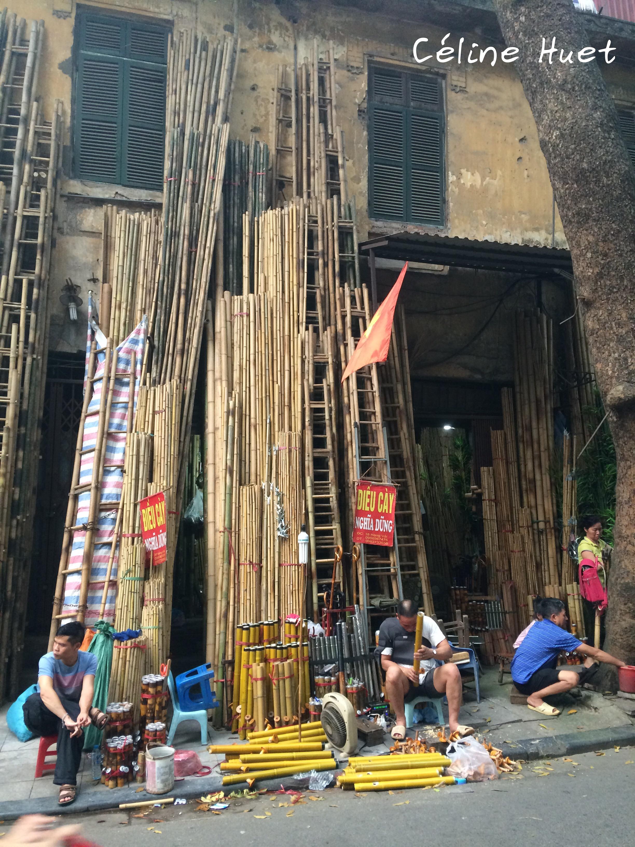 La rue des bambous Hanoï Vietnam Asie