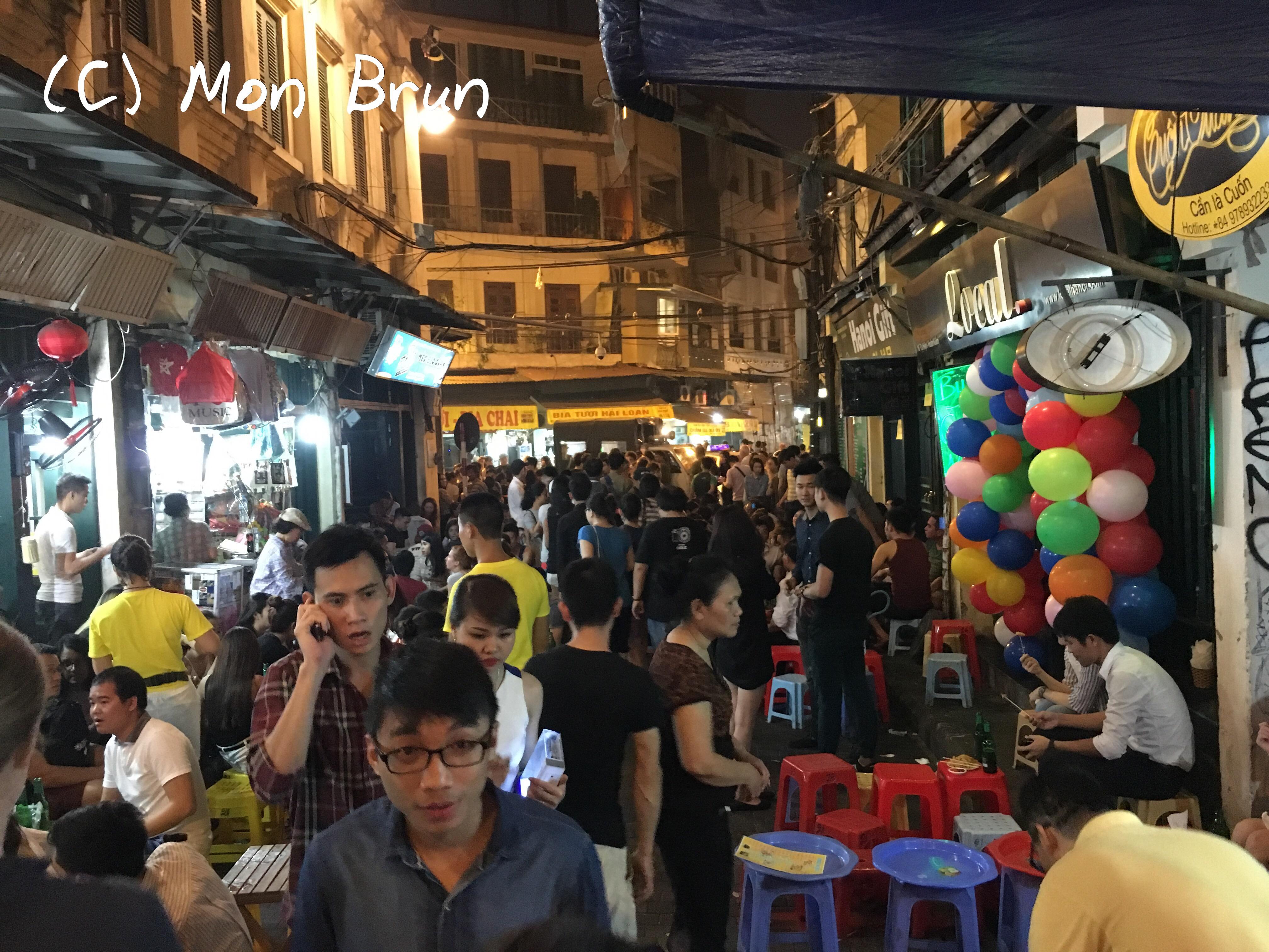 La rue de la soif Hanoï Vietnam Asie