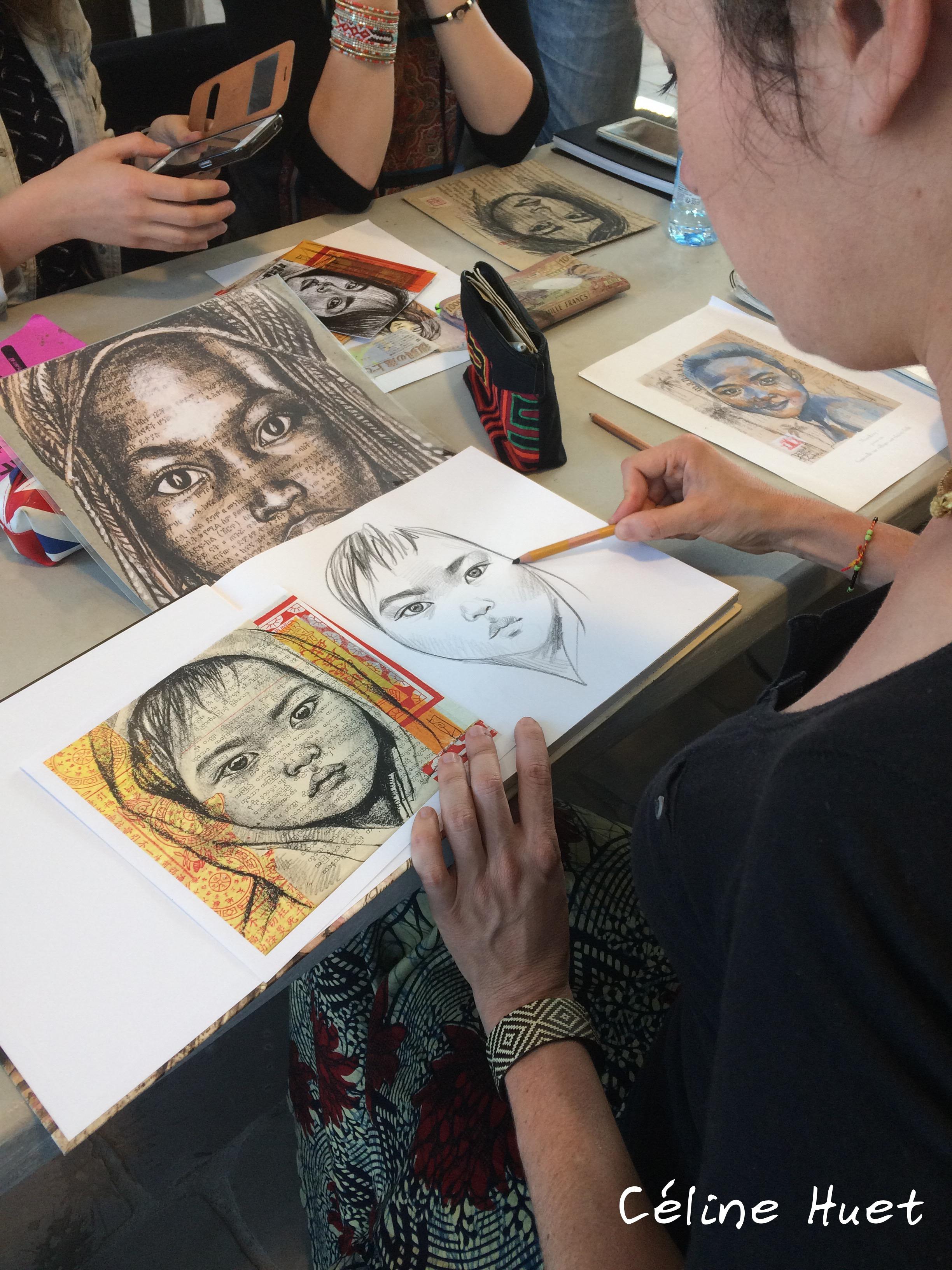 Atelier portraits Stéphanie Ledoux No Mad Festival Babel Voyages Office du Tourisme de Pontoise
