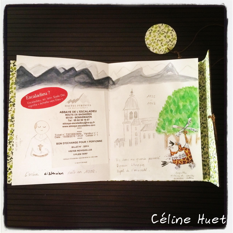Carnet de voyage Abbaye de l'Escaladieu Pyrénées France Céline Huet