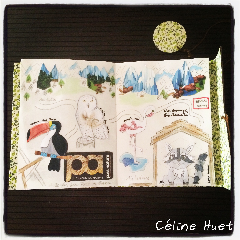 Carnet de voyage Argelès-Gazost Parc animalier Pyrénées France Céline Huet