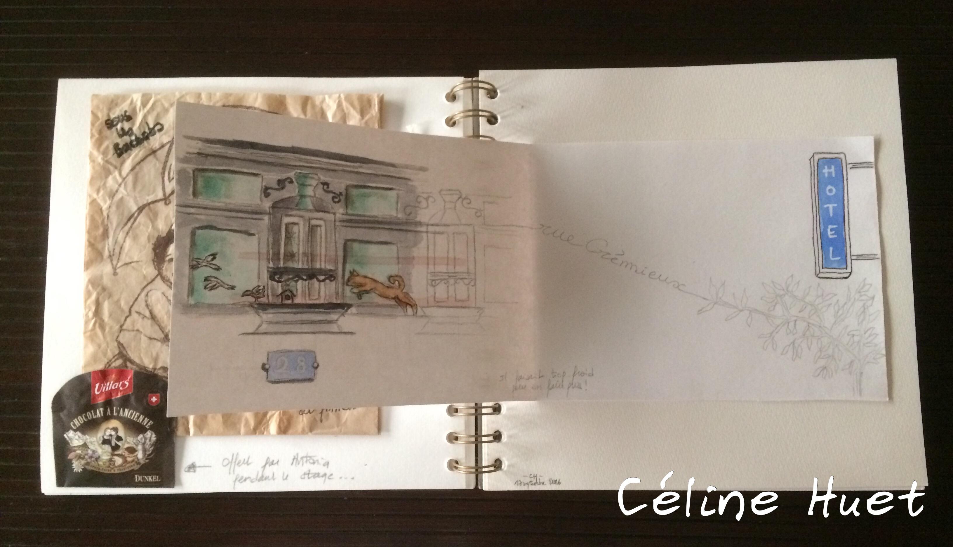 Carnet de voyage Paris haut en couleurs Céline Huet