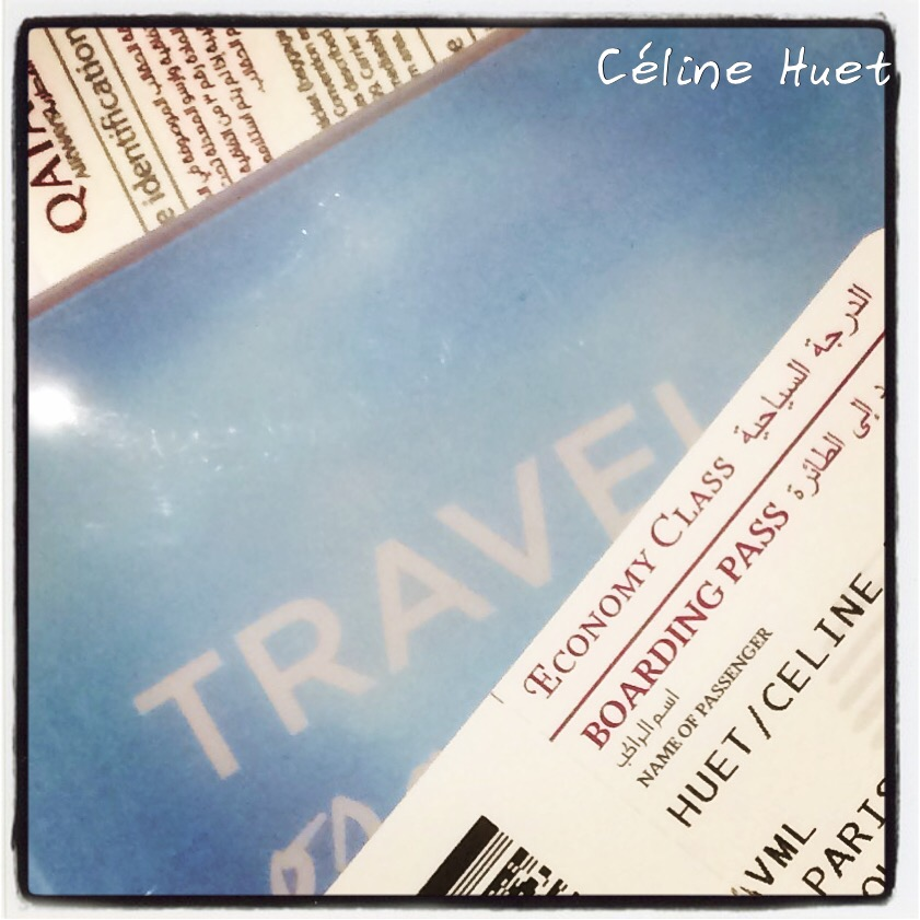 Qatar Airways Paris Doha Bangkok Carnet de voyage Céline Huet