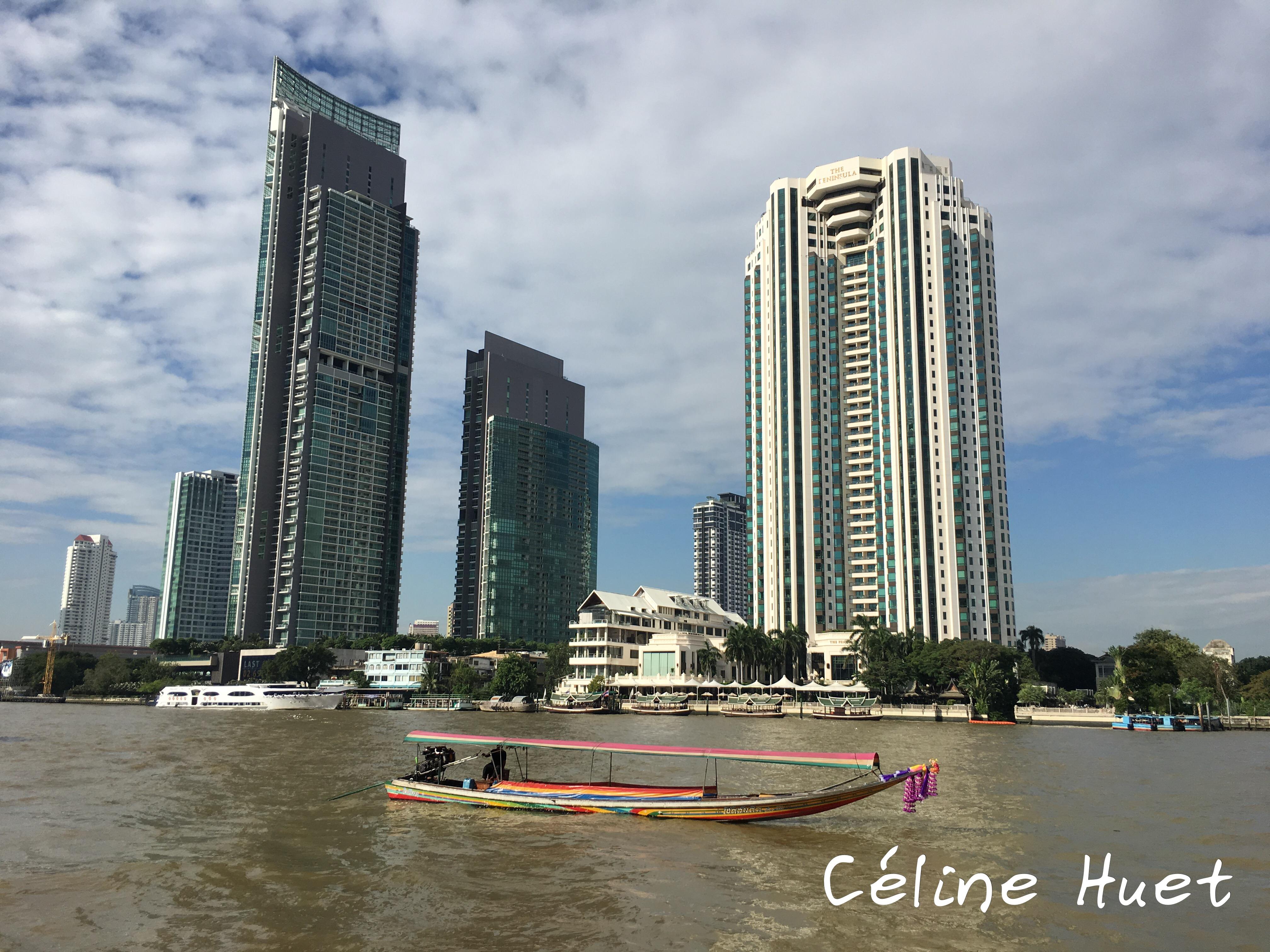 Longue queue sur le Chao Praya Bangkok Thaïlande Asie