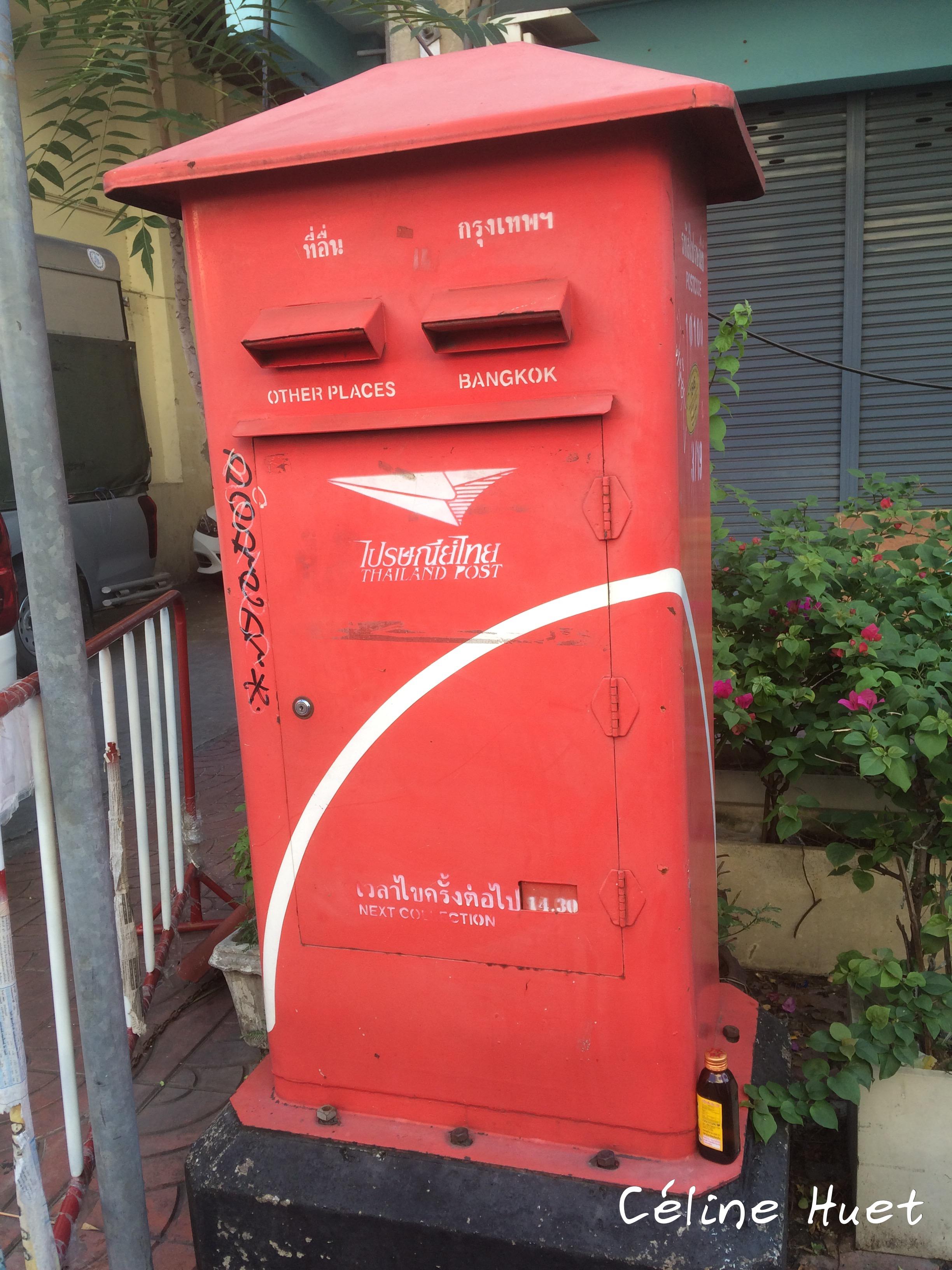 Boîte aux lettres thaï Bangkok Thaïlande Asie
