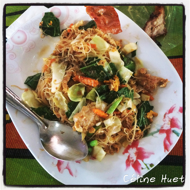 Nouilles thaï marché Petchaburi Thaïlande Asie