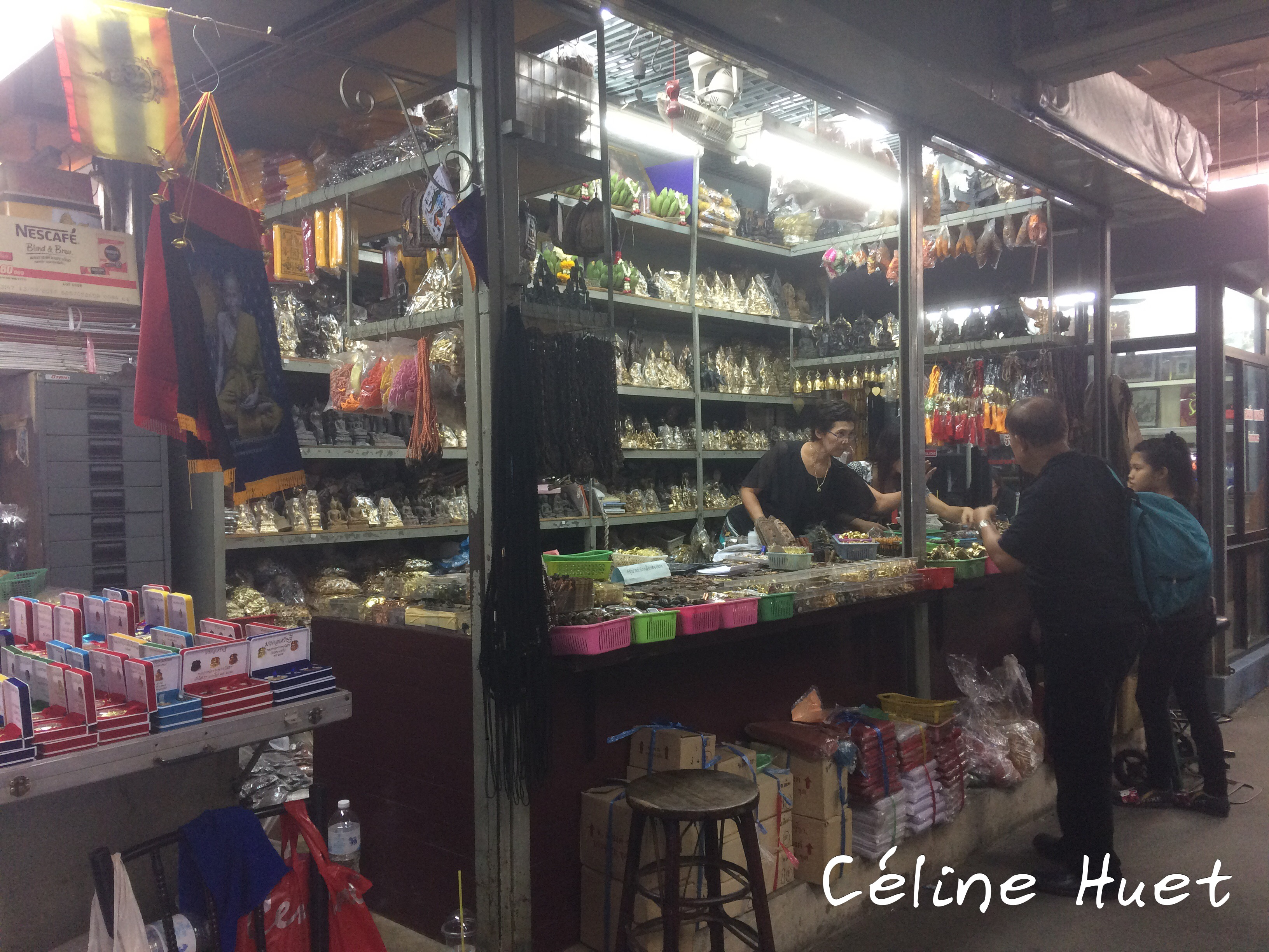 Marché aux Amulettes Bangkok Thaïlande Asie