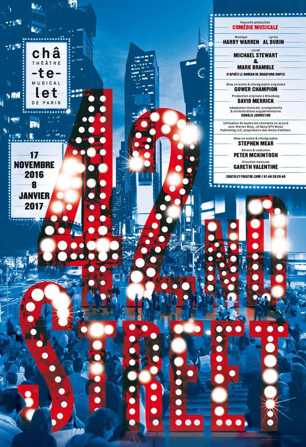 Comédie musicale 42nd Street Théâtre du Châtelet Paris