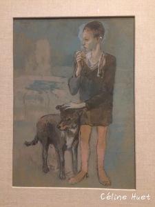 Garçon au chien Picasso Icônes de l'Art Moderne Fondation Louis Vuitton Paris