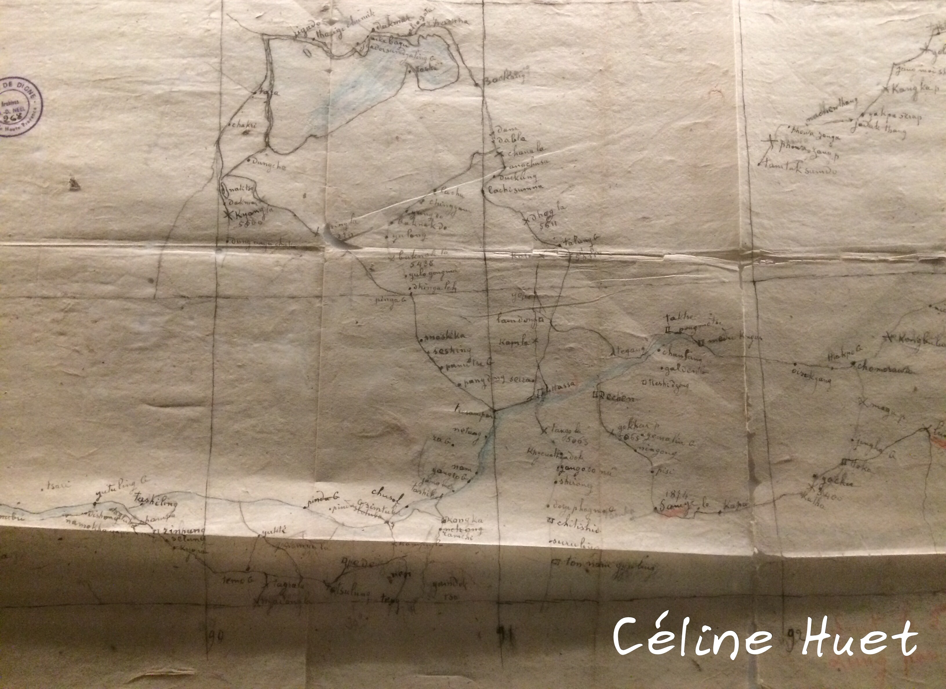 Carte manuscrite Exposition Alexandra David-Néel Musée Guimet Paris