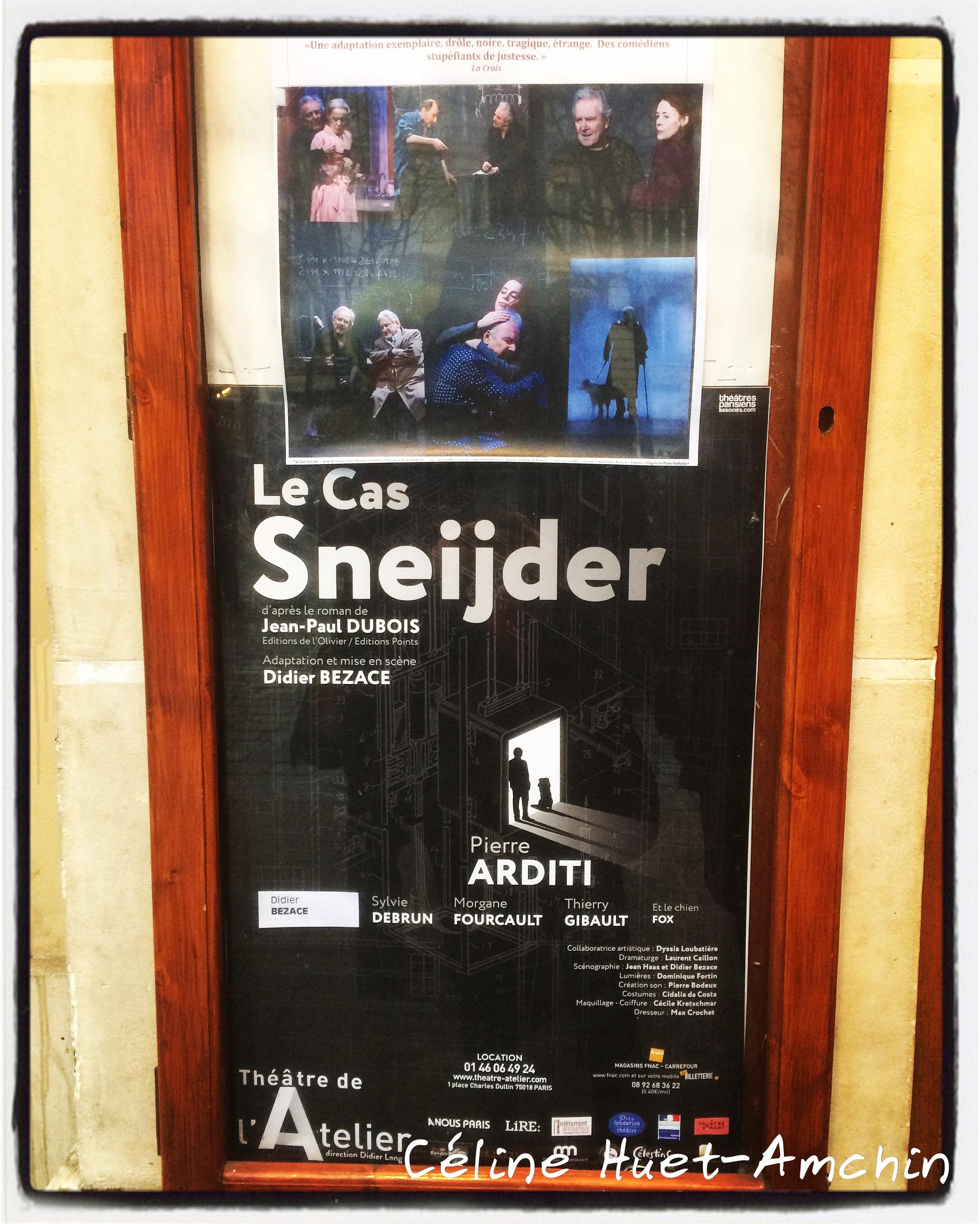 Le cas Sneijder Théâtre de l'Atelier Paris